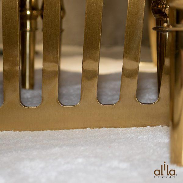 Bộ Bàn Ăn Mặt Đá Cẩm Thạch TH817 + Ghế Bọc Nhung B525 Alila