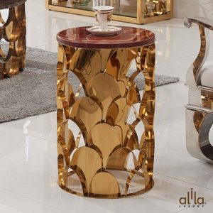 Bàn Trà Mặt Đá Cẩm Thạch D396 Alila