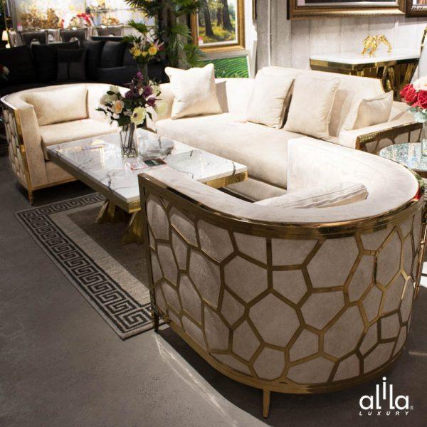 Bộ Sofa Bọc Nhung SF001 Alila