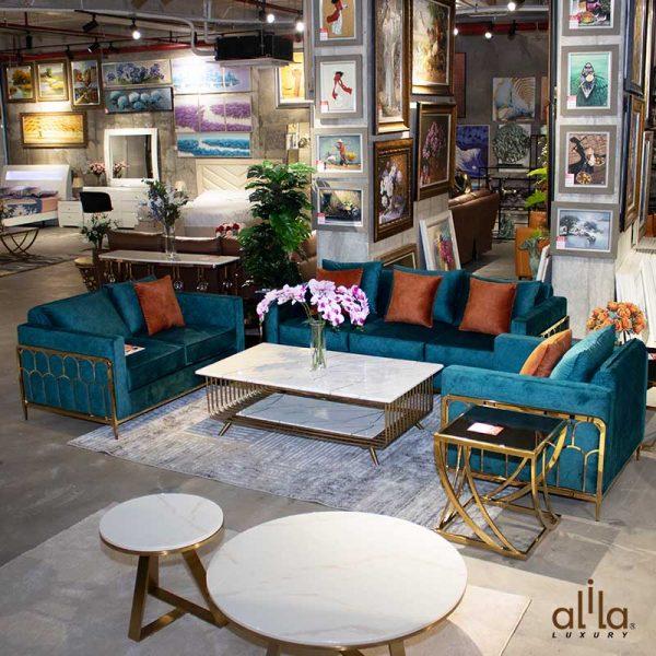 Bộ Sofa Bọc Nhung SF002 Alila