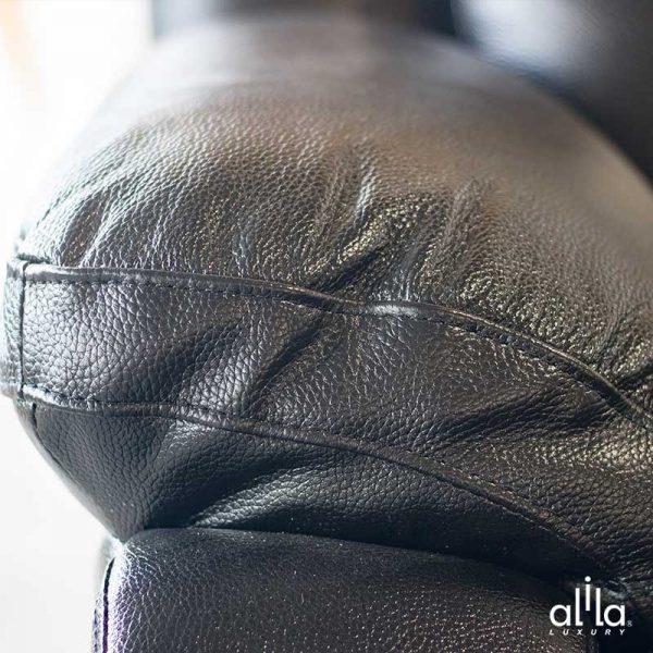 Sofa Da Chữ L Đen L23 Alila